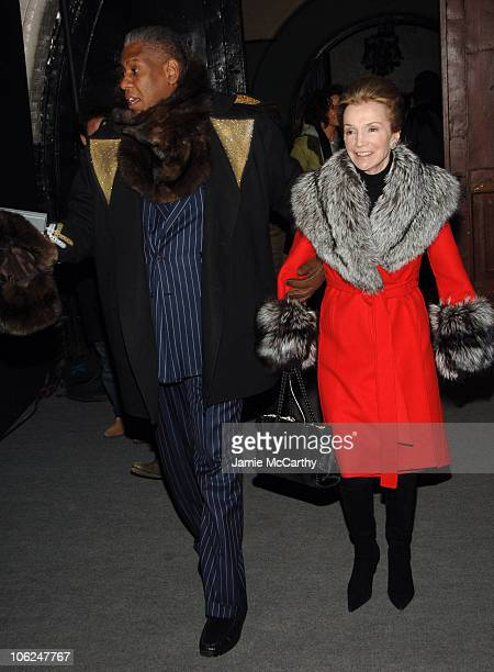 Andre Leon Talley and Lee Radziwill during MercedesBenz Fashion Week Fall 2007 Marc Jacobs Arrivals at New York State Armory in New York City New...