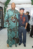 Andre Leon Talley and Phillip Bloch during Star Jones Steps Out In Style to Unveil Her Premiere Shoe Collection Starlet by Star Jones at Hudson Hotel...