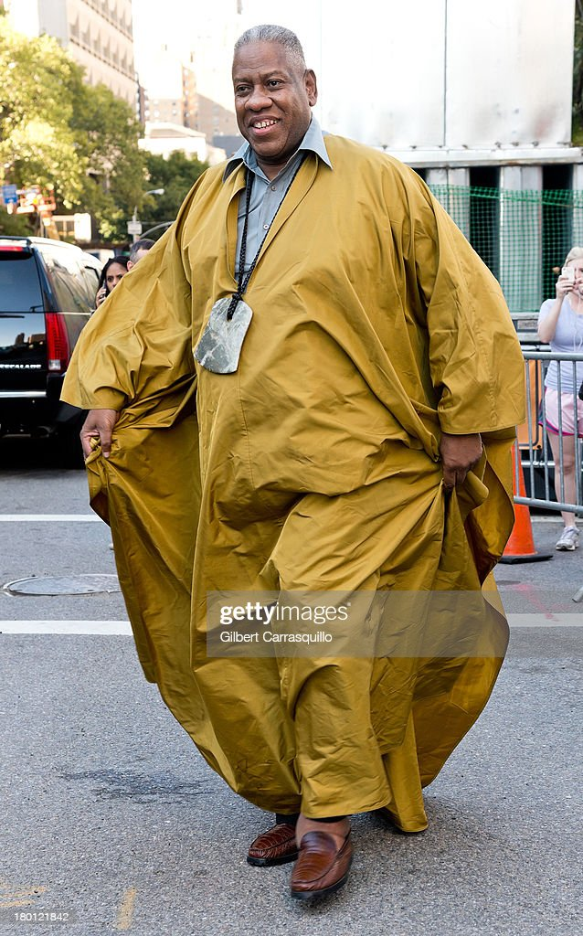 <a gi-track='captionPersonalityLinkClicked' href=/galleries/search?phrase=Andre+Leon+Talley&family=editorial&specificpeople=171165 ng-click='$event.stopPropagation()'>Andre Leon Talley</a> attends 2014 Mercedes-Benz Fashion Week during day 4 on September 8, 2013 in New York City.