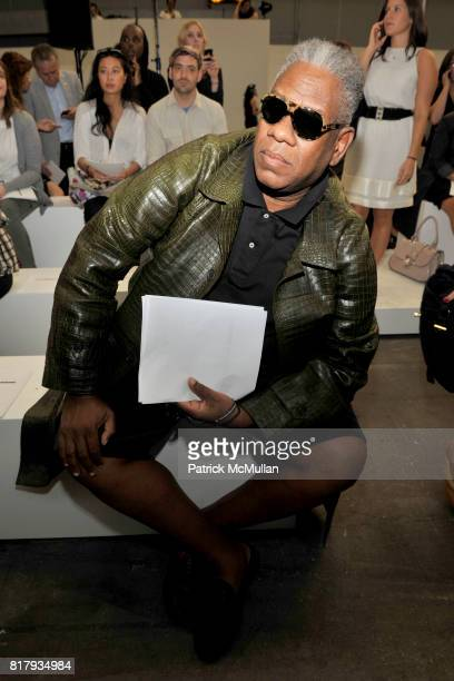 Andre Leon Talley attends ALEXANDER WANG Spring 2011 Fashion Show at Pier 94 West Side Highway on September 11 2010 in New York City
