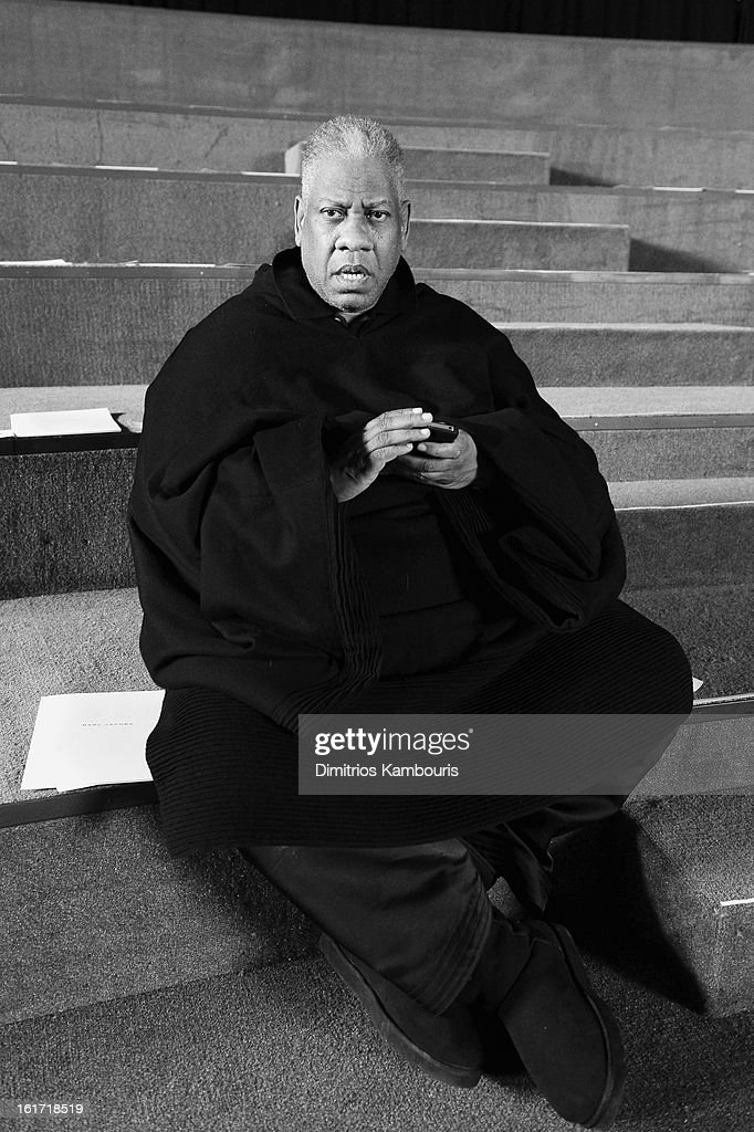 Andre Leon Talley attends the Marc Jacobs Collection Fall 2013 fashion show during Mercedes-Benz Fashion Week at New York Armory on February 14, 2013 in New York City.
