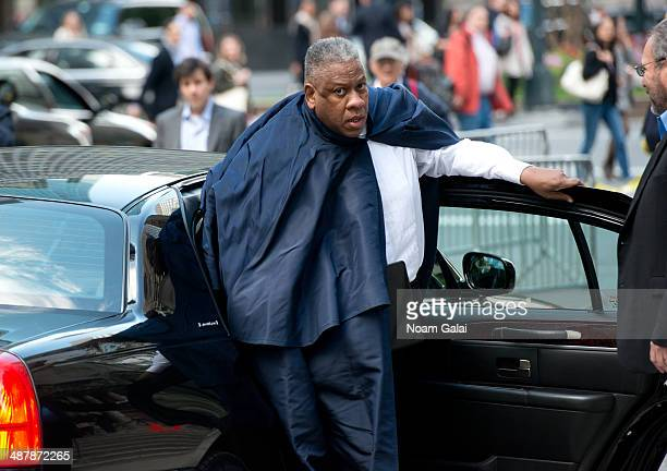 Andre Leon Talley attends the memorial service for L'Wren Scott at St Bartholomew's Church on May 2 2014 in New York City Fashion designer L'Wren...