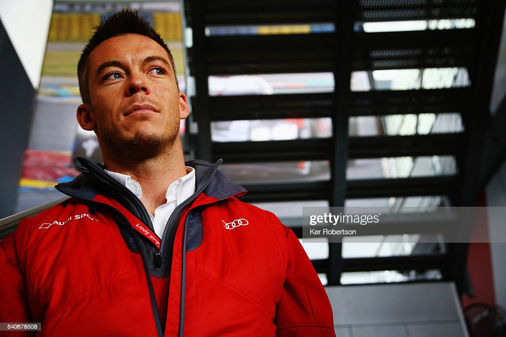 <a gi-track='captionPersonalityLinkClicked' href=/galleries/search?phrase=Andre+Lotterer&family=editorial&specificpeople=2380096 ng-click='$event.stopPropagation()'>Andre Lotterer</a> of Germany and Audi Sport Team Joest R18 is interviewed at a media session prior to qualifying for the Le Mans 24 Hour race at the Circuit de la Sarthe on June 16, 2016 in Le Mans, France.