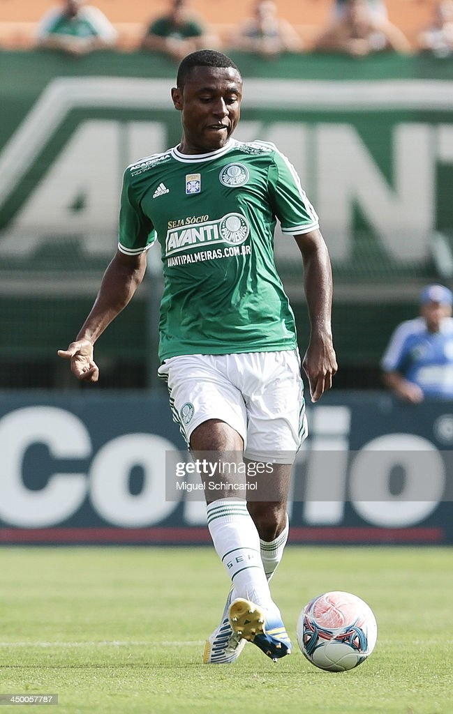 Andre Luis of Palmeiras during the match between Palmeiras and Boa Esporte for the Brazilian Championship Series B 2013 at Pacaembu Stadium on November 16, 2013 in Sao Paulo, Brazil.