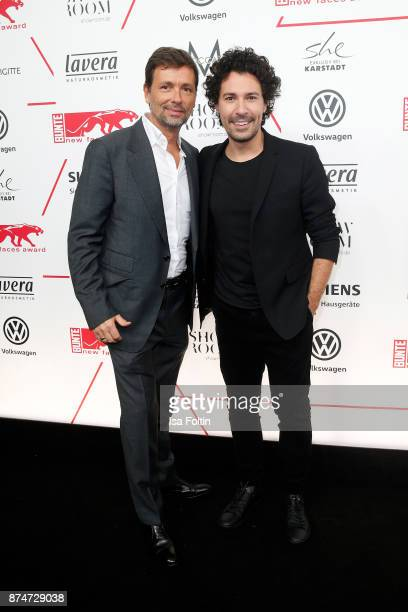 Andre Mertens and make up artist Boris Entrup attend the New Faces Award Style 2017 at The Grand on November 15 2017 in Berlin Germany