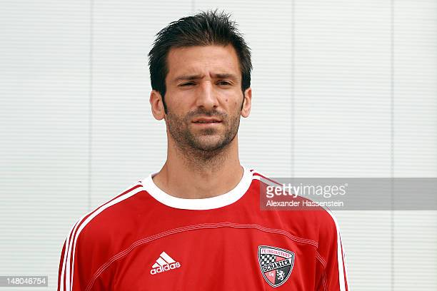 Andre Mijatovic of FC Ingolstadt poses during the Second Bundesliga team presentation of FC Ingolstadt at Audi Sportpark on July 7 2012 in Ingolstadt...