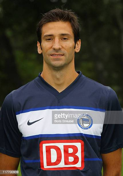Andre Mijatovic poses during the Hertha BSC Berlin Team Presentation on June 30 2011 in Berlin Germany