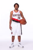 Andre Miller of the Portland Trail Blazers poses for a portrait during 2009 NBA Media Day on September 28 2009 at the Rose Garden Arena in Portland...
