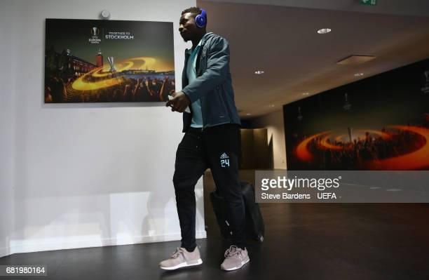 Andre Onana of Ajax Amsterdam arrives at the stadium prior to the Uefa Europa League semi final second leg match between Olympique Lyonnais Lyon and...