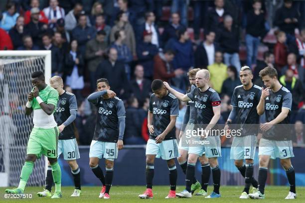 Andre Onana of Ajax Donny van de Beek of Ajax Justin Kluivert of Ajax David Neres of Ajax Matthijs de Ligt of Ajax Davy Klaassen of Ajax Hakim Ziyech...