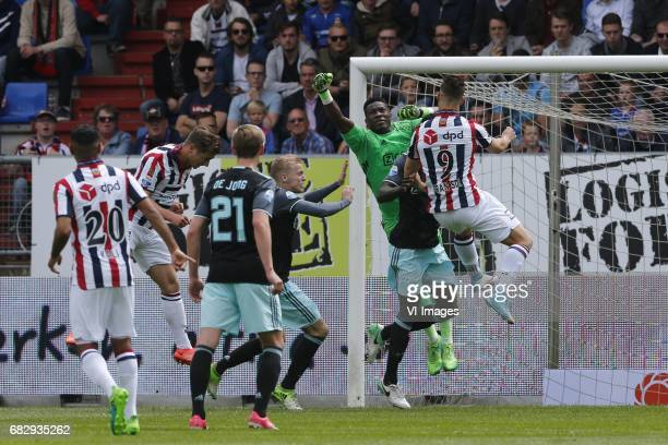 Andre Onana of Ajax during the Dutch Eredivisie match between Willem II Tilburg and Ajax Amsterdam at Koning Willem II stadium on May 14 2017 in...