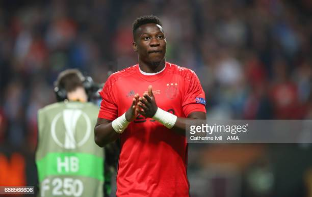 Andre Onana of Ajax during the UEFA Europa League Final match between Ajax and Manchester United at Friends Arena on May 24 2017 in Stockholm Sweden