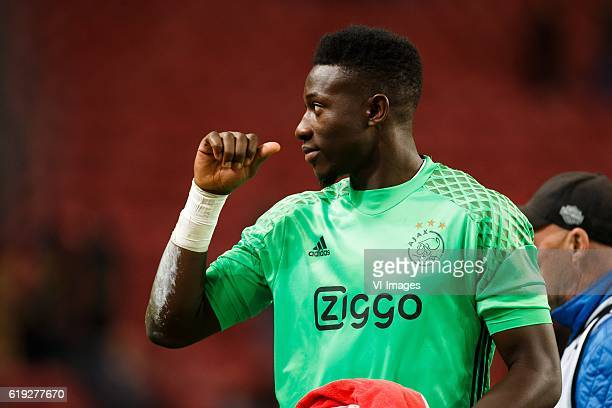 Andre Onana of Ajaxduring the Dutch Eredivisie match between Ajax Amsterdam and sbv Excelsior at the Amsterdam Arena on October 29 2016 in Amsterdam...
