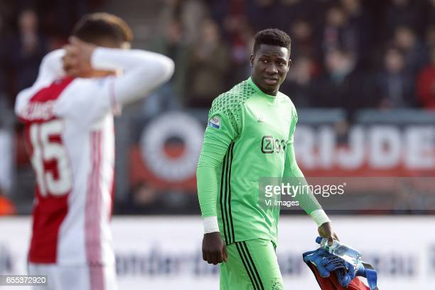 Andre Onana of Ajaxduring the Dutch Eredivisie match between sbv Excelsior Rotterdam and Ajax Amsterdam at Woudenstein stadium on March 19 2017 in...