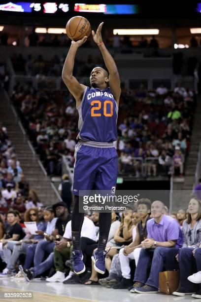 Andre Owens of the 3's Company shoots the ball in the game against the TriState in week nine of the BIG3 threeonthree basketball league at KeyArena...