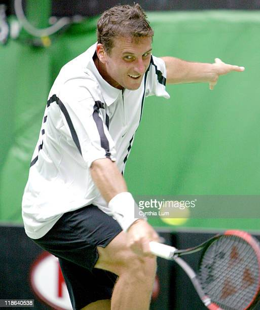 Andre Pavel in action against Juan Carlos Ferrero but lost the match 46 63 36 26