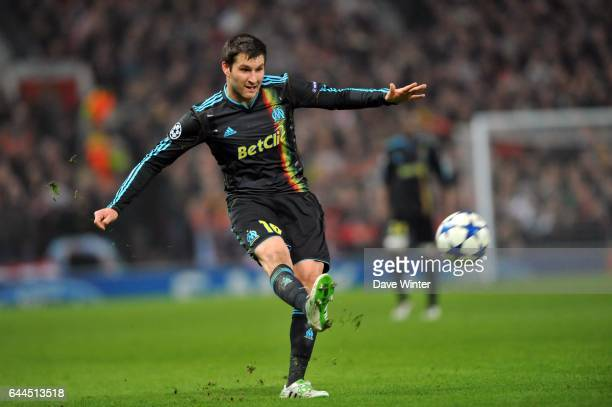 Andre Pierre GIGNAC Manchester United / Marseille 1/8 retour de Champions League Old Trafford Photo Dave Winter / Icon Sport