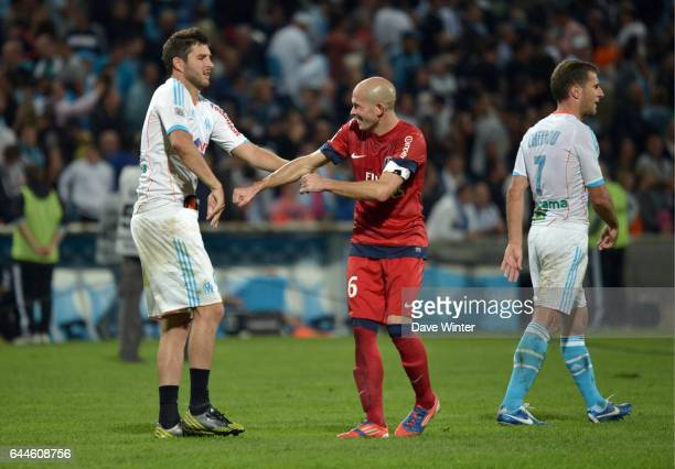 Andre Pierre GIGNAC / Christophe JALLET Paris Saint Germain / Marseille 8e journee Ligue 1 Photo Dave Winter / Icon Sport