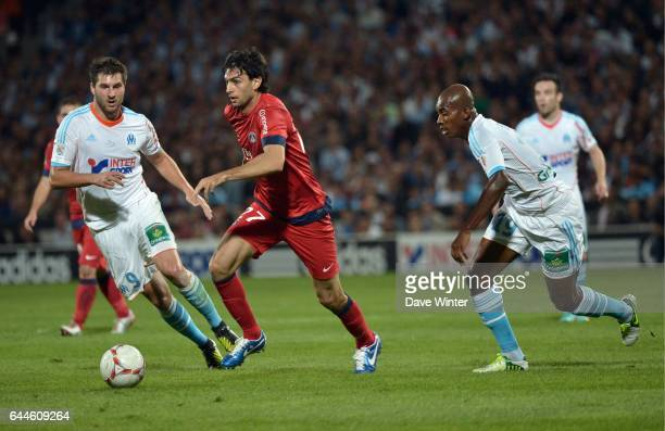 Andre Pierre GIGNAC / Javier PASTORE Paris Saint Germain / Marseille 8e journee Ligue 1 Photo Dave Winter / Icon Sport