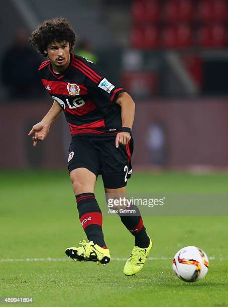 Andre Ramalho of Leverkusen controles the ball during the Bundesliga match between Bayer Leverkusen and 1 FSV Mainz 05 at BayArena on September 23...