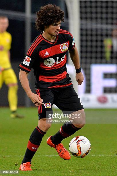 Andre Ramalho of Leverkusen runs with the ball during the Bundesliga match between Bayer Leverkusen and 1 FC Koeln at BayArena on November 7 2015 in...