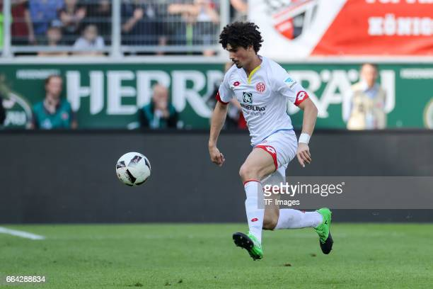 Andre Ramalho of Mainz controls the ball during the Bundesliga match between FC Ingolstadt 04 and 1 FSV Mainz 05 at Audi Sportpark on April 2 2017 in...