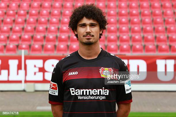 Andre Ramalho poses during the official team presentation of Bayer Leverkusen at BayArena on July 25 2016 in Leverkusen Germany