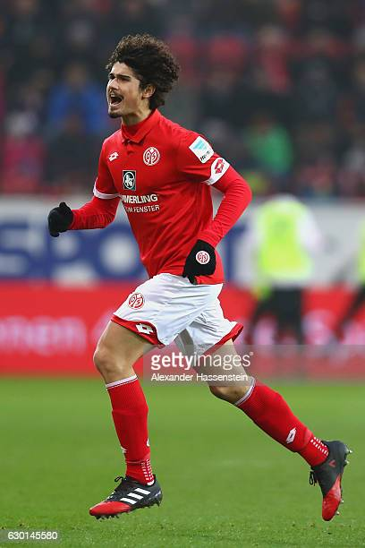 Andre Ramalho Silva of Mainz runs during the Bundesliga match between 1 FSV Mainz 05 and Hamburger SV at Opel Arena on December 17 2016 in Mainz...