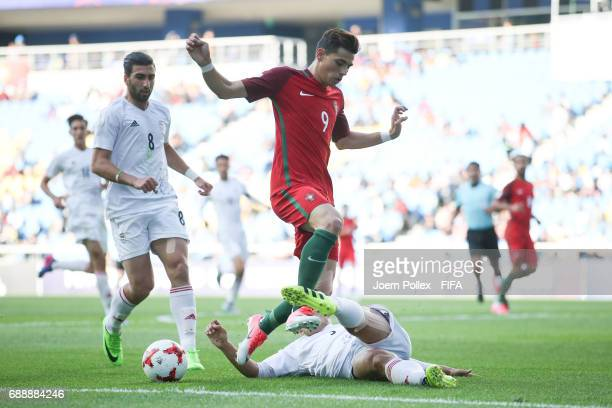 Andre Ribeiro of Portugal and Mehran Derakhshan of Iran during the FIFA U20 World Cup Korea Republic 2017 group C match between Portugal and Iran at...
