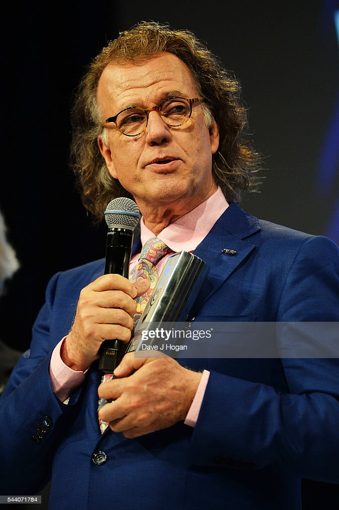 Andre Rieu accepts the PPL Classical Award during the Nordoff Robbins O2 Silver Clef Awards on July 1, 2016 in London, United Kingdom.
