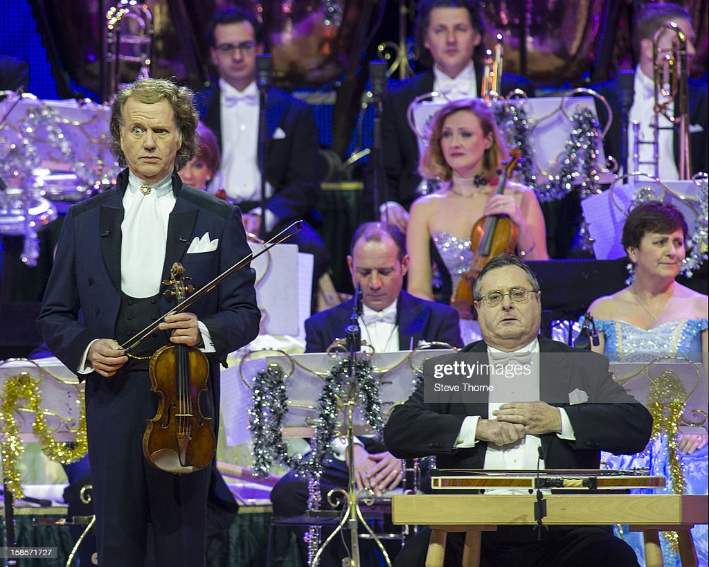 Andre Rieu and the Johann Strauss Orchestra perform at LG Arena on December 19, 2012 in Birmingham, England.