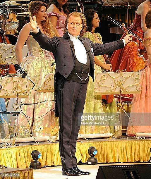 Andre Rieu performs on stage at O2 Arena on April 20 2011 in London United Kingdom