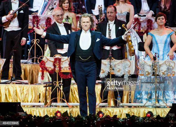 Andre Rieu performs on stage at Wembley Arena on December 6 2013 in London United Kingdom
