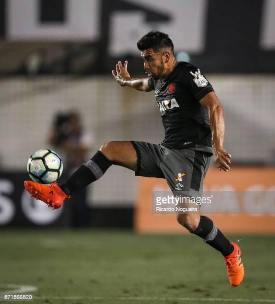 Andre Rios of Vasco in action during the match between Santos and Vasco da Gama as a part of Campeonato Brasileiro 2017 at Vila Belmiro Stadium on...