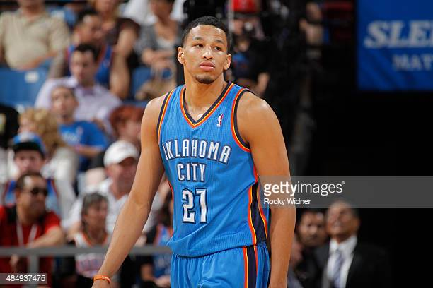 Andre Roberson of the Oklahoma City Thunder in a game against the Sacramento Kings on April 8 2014 at Sleep Train Arena in Sacramento California NOTE...