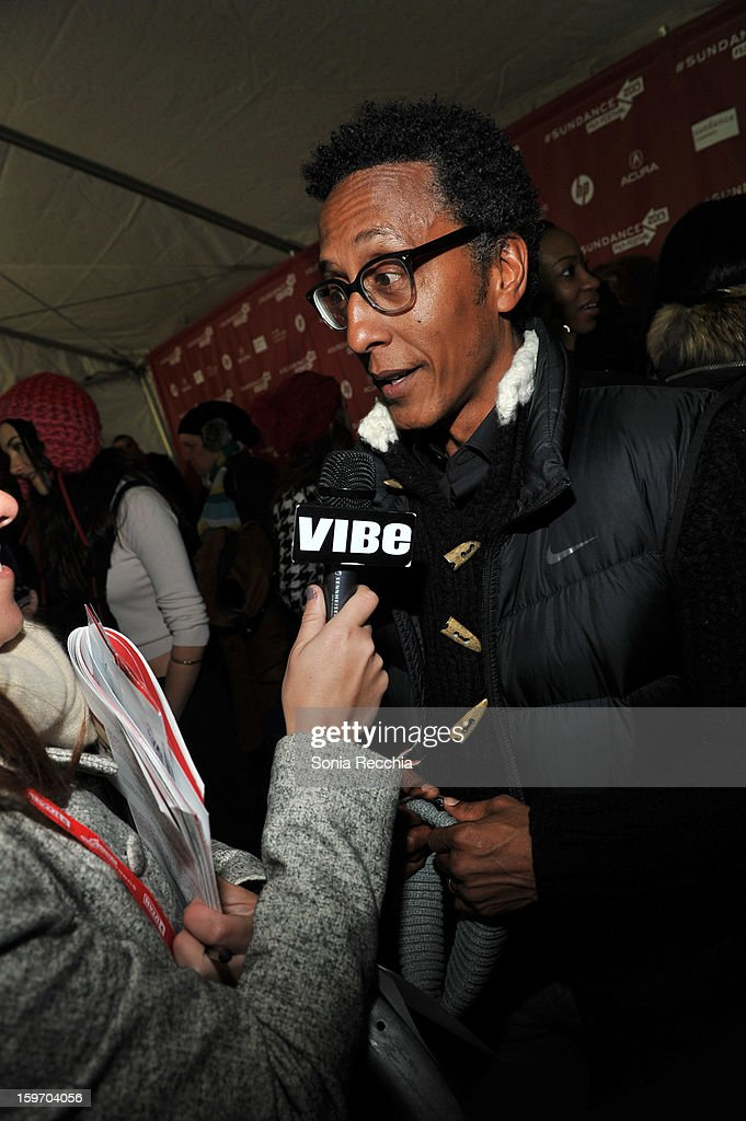 <a gi-track='captionPersonalityLinkClicked' href=/galleries/search?phrase=Andre+Royo&family=editorial&specificpeople=228162 ng-click='$event.stopPropagation()'>Andre Royo</a> attends 'The Spectacular Now' premiere at Library Center Theater during the 2013 Sundance Film Festival on January 18, 2013 in Park City, Utah.
