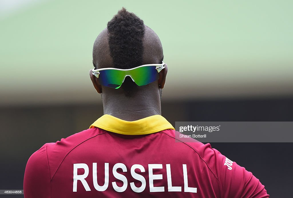 Andre Russell of West Indies during the ICC Cricket World Cup warm up match between England and the West Indies at Sydney Cricket Ground on February 9, 2015 in Sydney, Australia.