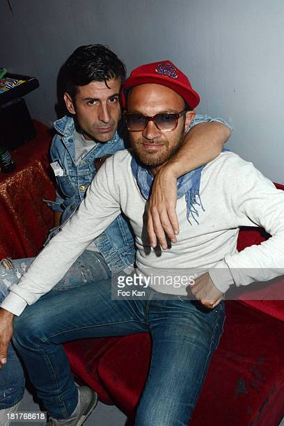 Andre Saraiva and Lionel Bensemoun attend the 'Haute Performance' By Andre Saraiva After Party At Le Baron on September 24 2013 in Paris France