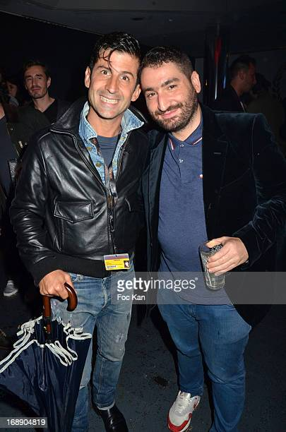 Andre Saraiva and Mouloud Achour attend the Kavinsky Party at the VIP Room JW Marriott The 66th Annual Cannes Film Festival on May 15 2013 in Cannes...