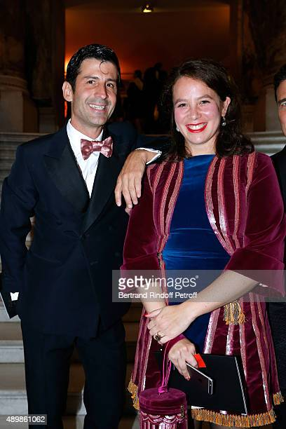 Andre Saraiva and Olympia Le Tan attend the Ballet National de Paris Opening Season Gala at Opera Garnier on September 24 2015 in Paris France