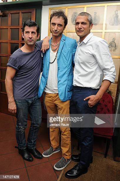 Andre Saraiva and Pablo Arroyo attend Officiel Hommes Paris Dinner on June 25 2012 in Milan Italy