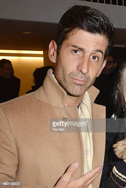 Andre Saraiva attends the APC Menswear Fall/Winter 20152016 show as part of Paris Fashion Week on January 24 2015 in Paris France