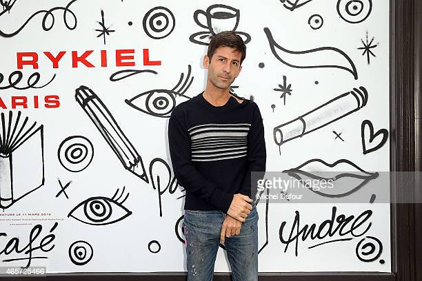 Andre Saraiva attends the Sonia Rykiel show as part of the Paris Fashion Week Womenswear Fall/Winter 2015/2016 on March 9 2015 in Paris France