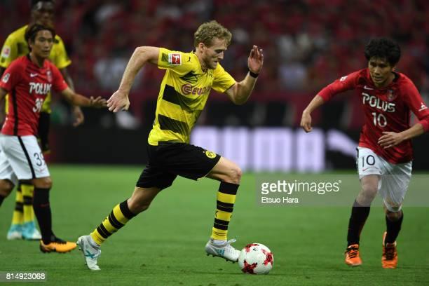 Andre Schuerrle of Burussia Dortmund in action during the preseason friendly match between Urawa Red Diamonds and Borussia Dortmund at Saitama...