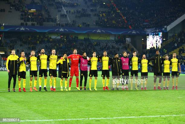 Andre Schuerrle of Dortmund Mario Goetze of Dortmund Marcel Schmelzer of Dortmund Oemer Toprak of Dortmund Andrey Yarmolenko of Dortmund Shinji...