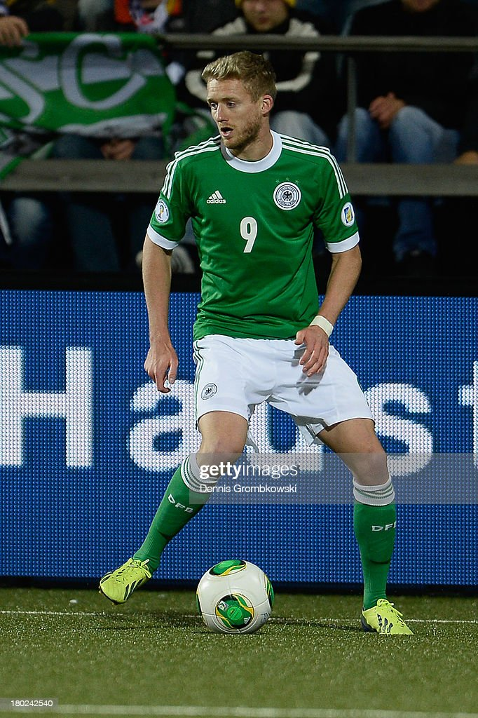 Andre Schuerrle of Germany controls the ball during the FIFA 2014 World Cup Qualifier match between Faeroe Islands and Germany on September 10, 2013 in Torshavn, Denmark.