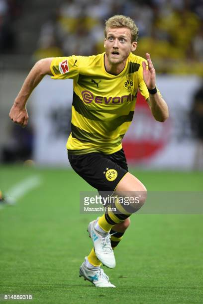 Andre Schurrle of Borussia Dortmund looks on during the preseason friendly match between Urawa Red Diamonds and Borussia Dortmund at Saitama Stadium...