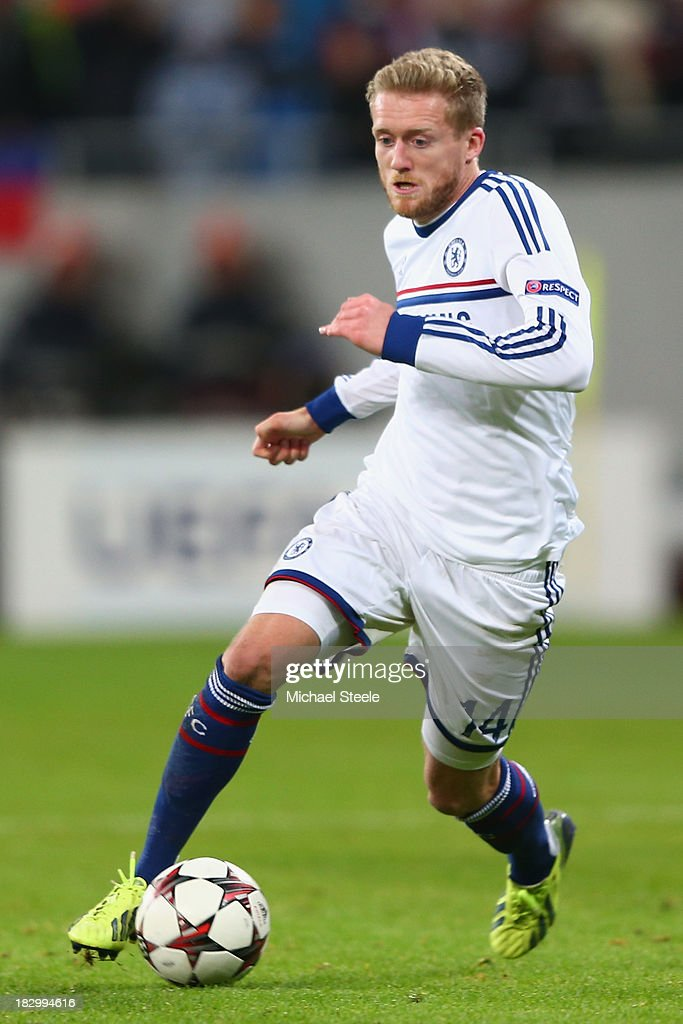 Andre Schurrle of Chelsea during the UEFA Champions League Group E Match between FC Steaua Bucuresti and Chelsea at the National Arena Stadium on October 1, 2013 in Bucharest, Romania.
