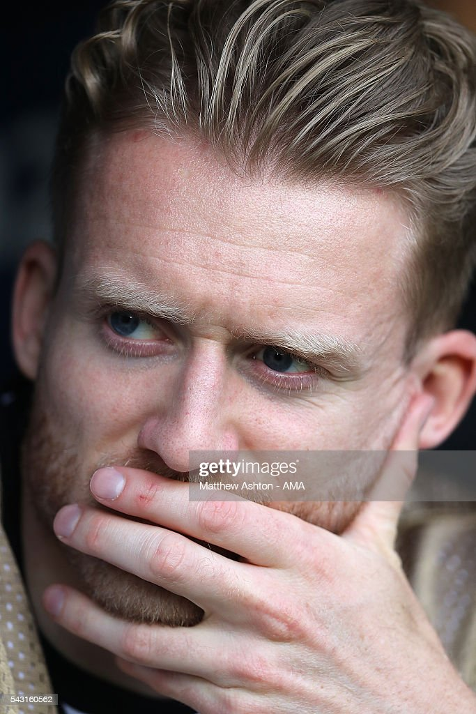 Andre Schurrle of Germany looks on during the UEFA Euro 2016 Round of 16 match between Germany and Slovakia at Stade Pierre-Mauroy on June 26, 2016 in Lille, France.