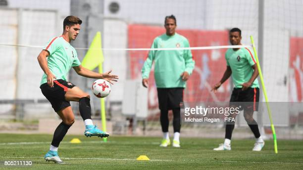 Andre Silva in action during the Portugal training session on July 1 2017 in Moscow Russia